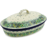 14-inch Stoneware Baker with Cover - Polmedia Polish Pottery H8530J