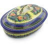 14-inch Stoneware Baker with Cover - Polmedia Polish Pottery H9274I