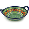 14-inch Stoneware Bowl with Handles - Polmedia Polish Pottery H3589D