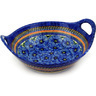 14-inch Stoneware Bowl with Handles - Polmedia Polish Pottery H3590D