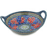 14-inch Stoneware Bowl with Handles - Polmedia Polish Pottery H4215C