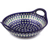 14-inch Stoneware Bowl with Handles - Polmedia Polish Pottery H4218C