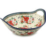 14-inch Stoneware Bowl with Handles - Polmedia Polish Pottery H4296I