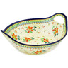 14-inch Stoneware Bowl with Handles - Polmedia Polish Pottery H4779E