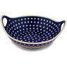 14-inch Stoneware Bowl with Handles - Polmedia Polish Pottery H9709C