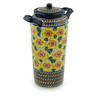 14-inch Stoneware Jar with Lid and Handles - Polmedia Polish Pottery H3876C