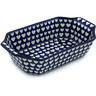 14-inch Stoneware Rectangular Baker with Handles - Polmedia Polish Pottery H2626H
