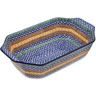 14-inch Stoneware Rectangular Baker with Handles - Polmedia Polish Pottery H4997A