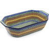 14-inch Stoneware Rectangular Baker with Handles - Polmedia Polish Pottery H4998A
