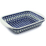 14-inch Stoneware Rectangular Baker with Handles - Polmedia Polish Pottery H7617H