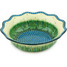 14-inch Stoneware Scalloped Bowl - Polmedia Polish Pottery H4527G