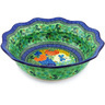 14-inch Stoneware Scalloped Bowl - Polmedia Polish Pottery H4984G