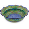 14-inch Stoneware Scalloped Bowl - Polmedia Polish Pottery H5742G