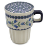14 oz Stoneware Mug with Lid - Polmedia Polish Pottery H6539K