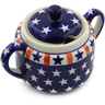 14 oz Stoneware Sugar Bowl - Polmedia Polish Pottery H4401J
