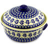 15-inch Stoneware Baker with Cover with Handles - Polmedia Polish Pottery H0754D