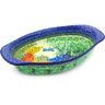 15-inch Stoneware Oval Baker with Handles - Polmedia Polish Pottery H4841G