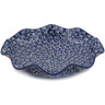 15-inch Stoneware Scalloped Fluted Bowl - Polmedia Polish Pottery H7792K