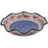 15-inch Stoneware Scalloped Fluted Bowl - Polmedia Polish Pottery H7944K