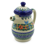 15 oz Stoneware Pitcher with Lid - Polmedia Polish Pottery H4754K