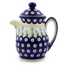 15 oz Stoneware Pitcher with Lid - Polmedia Polish Pottery H7052I