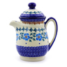 15 oz Stoneware Pitcher with Lid - Polmedia Polish Pottery H9116I