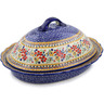 16-inch Stoneware Baker with Cover - Polmedia Polish Pottery H2851K