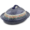 16-inch Stoneware Baker with Cover - Polmedia Polish Pottery H2867K