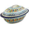 16-inch Stoneware Baker with Cover - Polmedia Polish Pottery H8208J