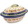 16-inch Stoneware Baker with Cover - Polmedia Polish Pottery H8213J