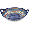 16-inch Stoneware Bowl with Handles - Polmedia Polish Pottery H3509C