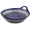 16-inch Stoneware Bowl with Handles - Polmedia Polish Pottery H4301I