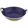 16-inch Stoneware Bowl with Handles - Polmedia Polish Pottery H8176C
