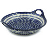 16-inch Stoneware Bowl with Handles - Polmedia Polish Pottery H8882B