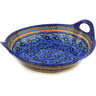 16-inch Stoneware Bowl with Handles - Polmedia Polish Pottery H9891D