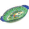 16-inch Stoneware Platter with Handles - Polmedia Polish Pottery H3891E