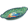 16-inch Stoneware Platter with Handles - Polmedia Polish Pottery H6978H