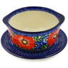 16 oz Stoneware Bouillon Cup with Saucer - Polmedia Polish Pottery H3700K
