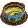 16 oz Stoneware Bouillon Cup with Saucer - Polmedia Polish Pottery H3754K