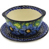 16 oz Stoneware Bouillon Cup with Saucer - Polmedia Polish Pottery H6398K