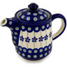 16 oz Stoneware Tea or Coffee Pot - Polmedia Polish Pottery H9787C
