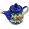 17 oz Stoneware Tea or Coffee Pot - Polmedia Polish Pottery H2153E