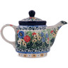 17 oz Stoneware Tea or Coffee Pot - Polmedia Polish Pottery H5631L