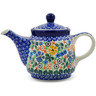 17 oz Stoneware Tea or Coffee Pot - Polmedia Polish Pottery H8267A