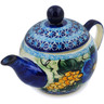 17 oz Stoneware Tea Pot with Sifter - Polmedia Polish Pottery H9626B