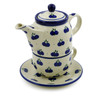 17 oz Stoneware Tea Set for One - Polmedia Polish Pottery H1125B