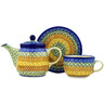 17 oz Stoneware Tea Set for One - Polmedia Polish Pottery H1795D