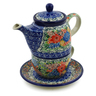 17 oz Stoneware Tea Set for One - Polmedia Polish Pottery H1895K