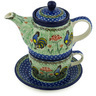 17 oz Stoneware Tea Set for One - Polmedia Polish Pottery H2170H