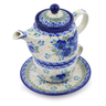 17 oz Stoneware Tea Set for One - Polmedia Polish Pottery H2440J